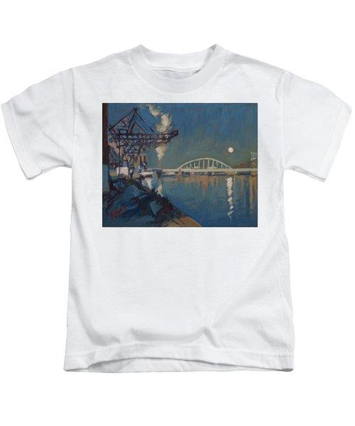 Moon Over The Railway Bridge Maastricht Kids T-Shirt