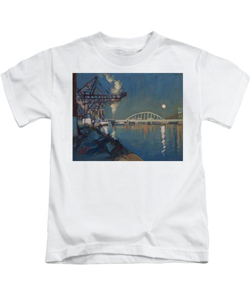 Moon Over The Railway Bridge Maastricht Kids T-Shirt
