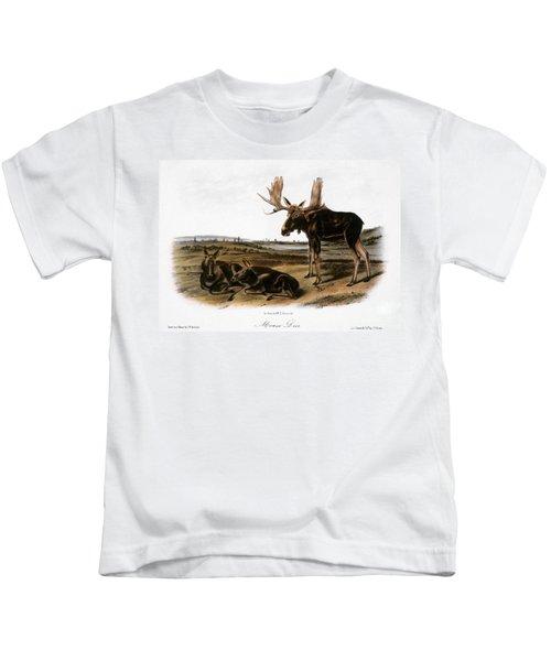Moose Deer (cervus Alces) Kids T-Shirt