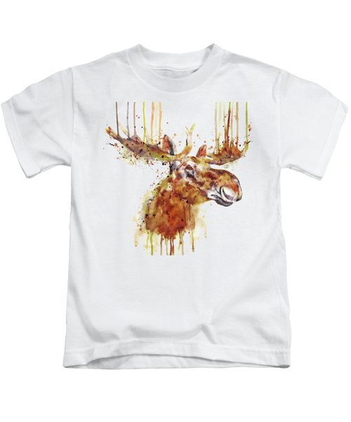 Moose Head Kids T-Shirt by Marian Voicu