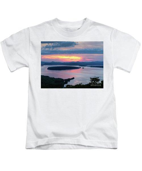 Mooselookmeguntic Lake In The Last Light Of Day - Rangeley Me  -63430 Kids T-Shirt