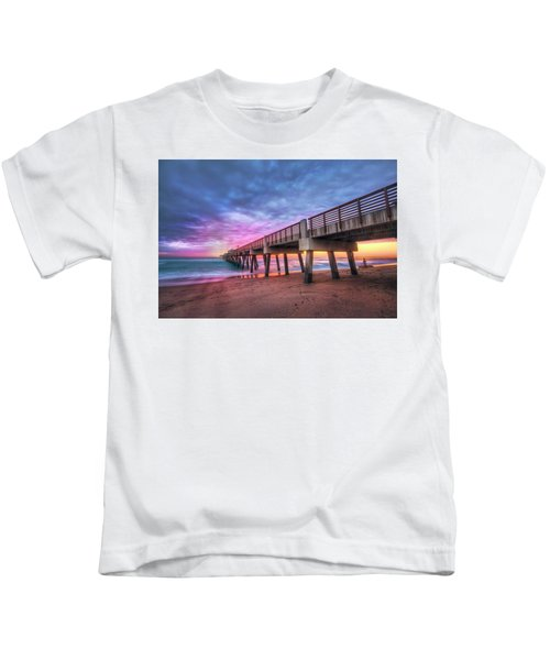 Morning Colors At The Pier Kids T-Shirt