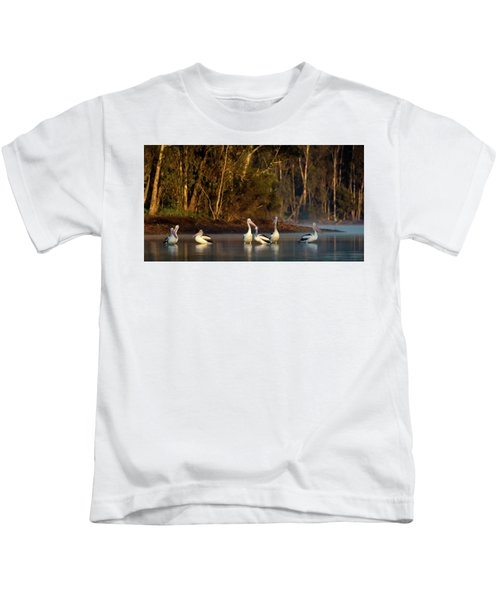 Morning On The River Kids T-Shirt