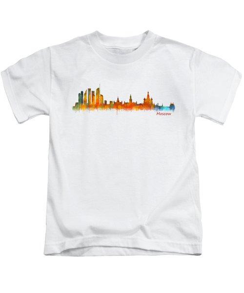 Moscow City Skyline Hq V2 Kids T-Shirt
