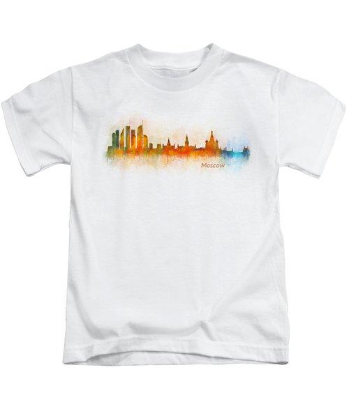 Moscow City Skyline Hq V3 Kids T-Shirt