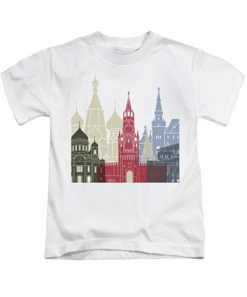 Moscow Skyline Poster Kids T-Shirt
