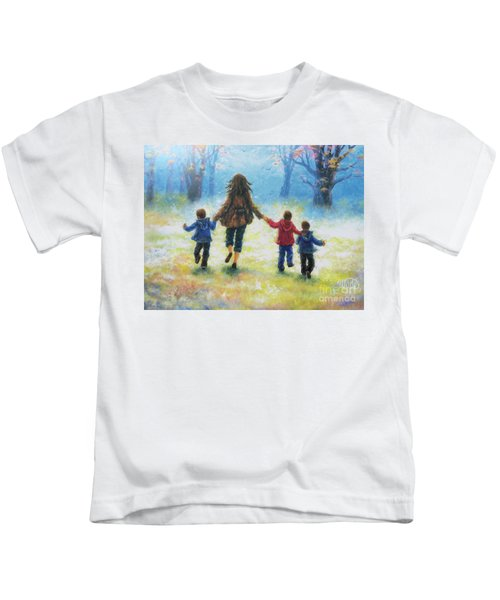 Mother And Three Sons  Kids T-Shirt