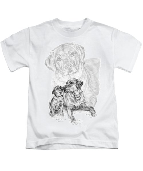 Mother Labrador Dog And Puppy Kids T-Shirt