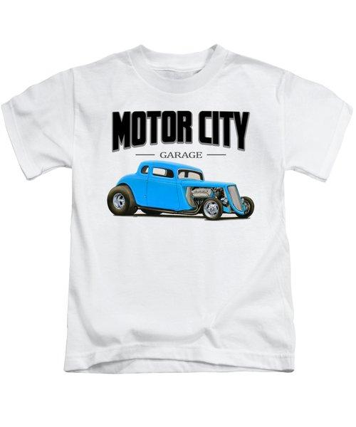 Motor City Hot Rod Kids T-Shirt