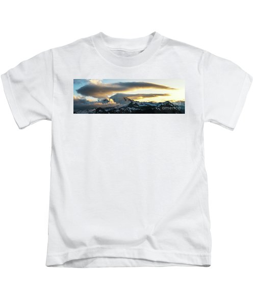 Mount Baker Cloudscape Sunset Panorama Kids T-Shirt