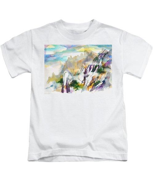 Mountain Awe #2 Kids T-Shirt