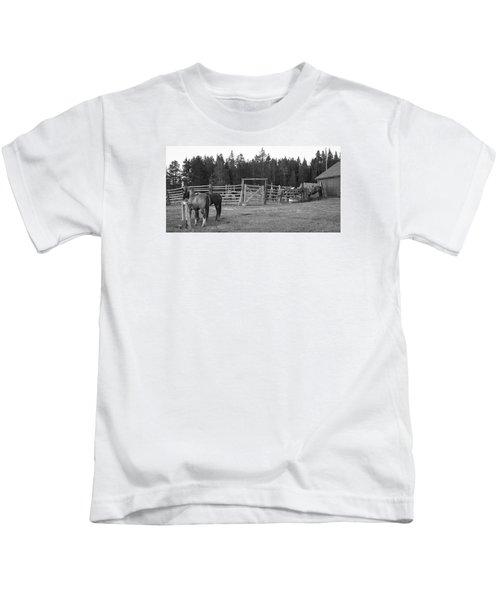 Mountain Corrals Kids T-Shirt