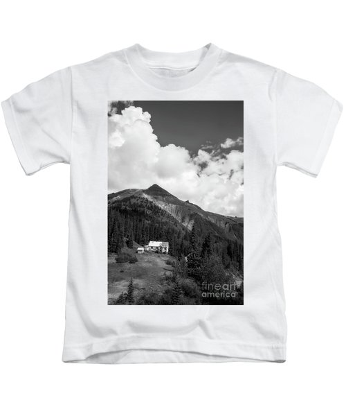 Mountain Mining Home In Black And White Kids T-Shirt
