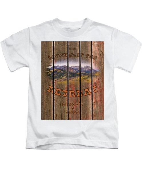 Mountain Top Retreat Kids T-Shirt