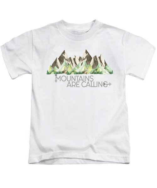 Mountains Are Calling Kids T-Shirt