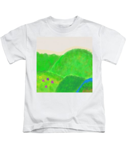 Mountains Of Land And Love Kids T-Shirt