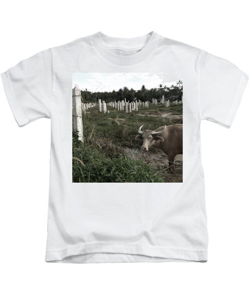 Mourning In The Palm-tree Graveyard Kids T-Shirt