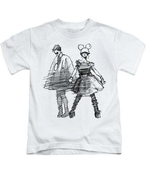 Mouse And Morse Kids T-Shirt by H James Hoff