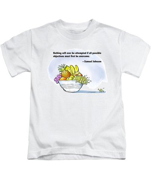 Mr. Grape And Dr. Johnson Kids T-Shirt