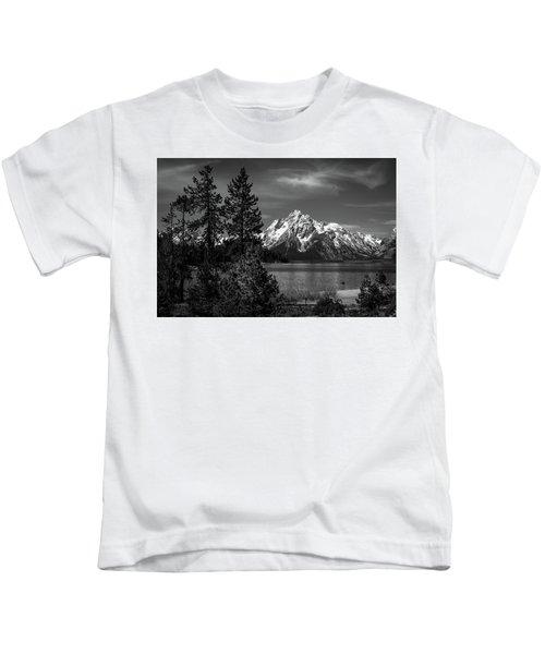 Mt. Moran And Trees Kids T-Shirt