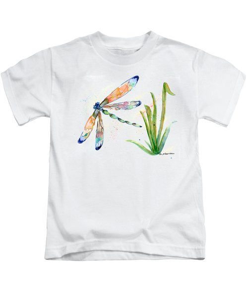 Multi-colored Dragonfly Kids T-Shirt