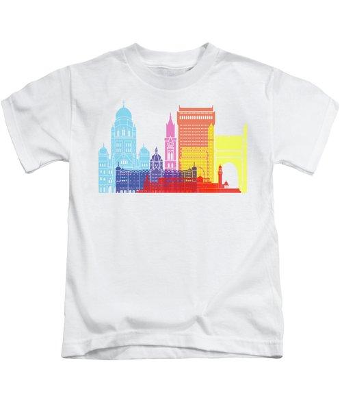 Mumbai Skyline Pop Kids T-Shirt