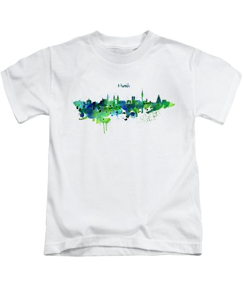 Munich Skyline Silhouette Kids T-Shirt