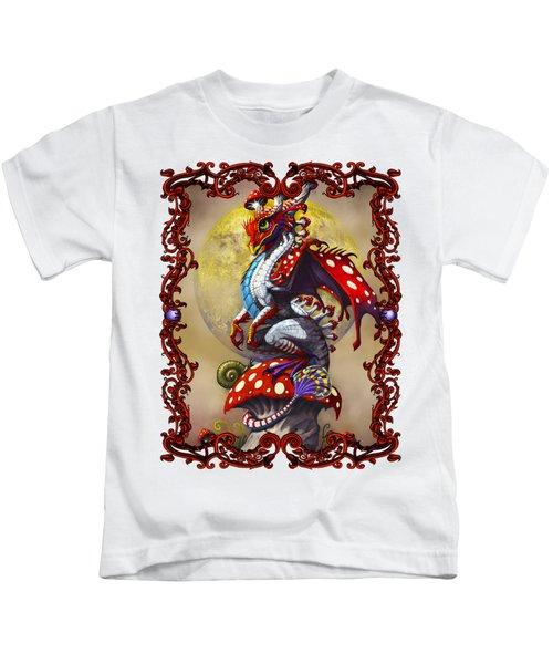 Mushroom Dragon T-shirts Kids T-Shirt by Stanley Morrison