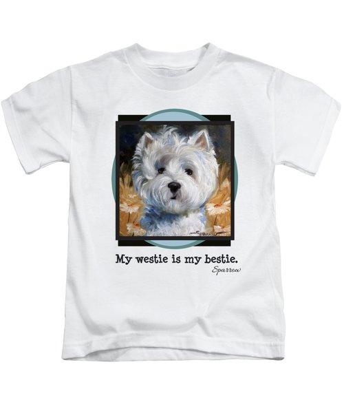 My Westie Is My Bestie Kids T-Shirt