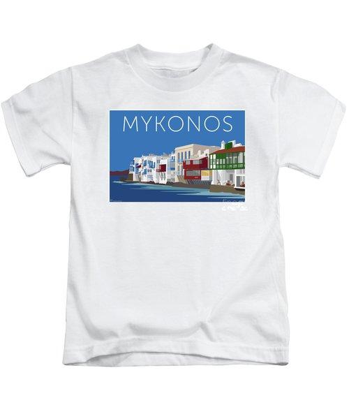 Mykonos Little Venice - Blue Kids T-Shirt