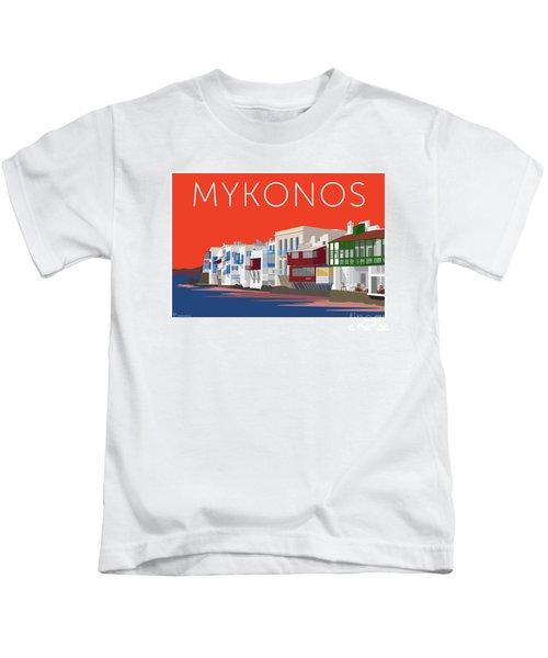 Mykonos Little Venice - Orange Kids T-Shirt