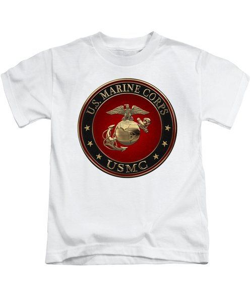 N C O And Enlisted E G A Special Edition Over White Leather Kids T-Shirt