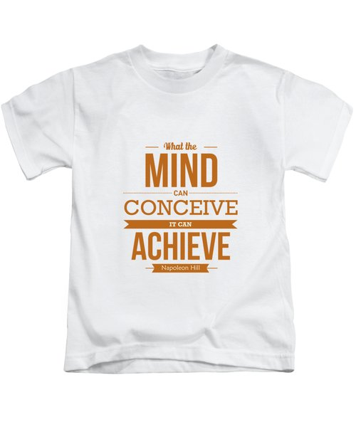 Napoleon Hill Typography Art Quotes Poster Kids T-Shirt