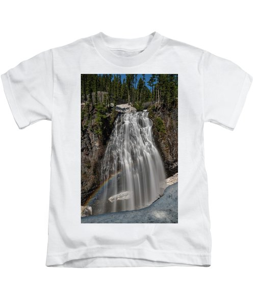 Narada Falls In Winter Kids T-Shirt