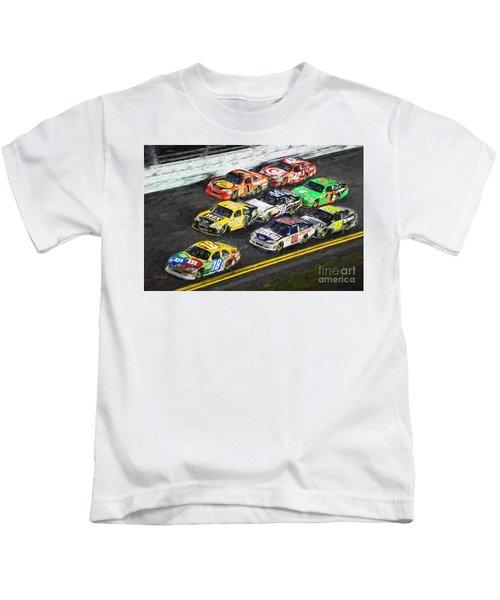 Nascar Night Racing Kids T-Shirt