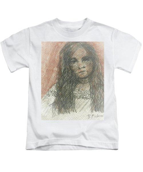 Native American Girl Kids T-Shirt
