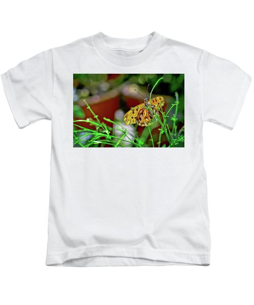 Nature - Butterfly And Plants Kids T-Shirt