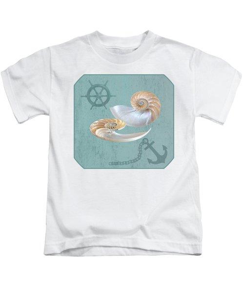 Nautical Nautilus Kids T-Shirt
