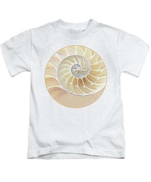 Nautilus Natural Cream Spiral Kids T-Shirt