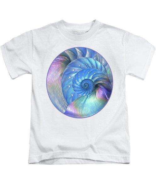 Nautilus Shells Blue And Purple Kids T-Shirt
