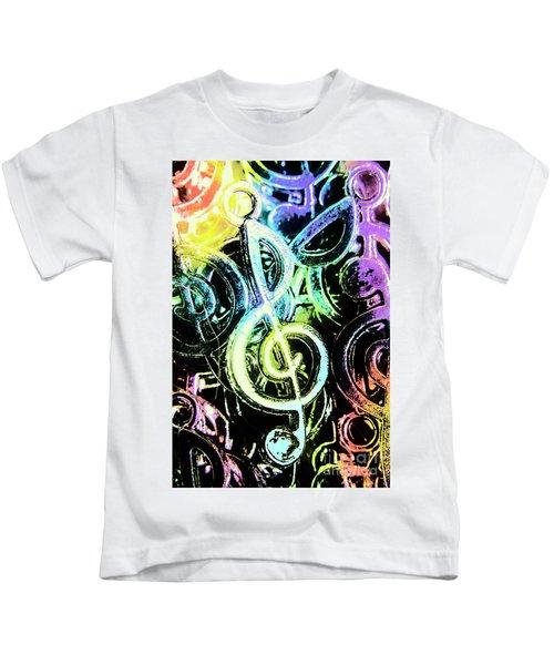 Neon Notes Kids T-Shirt
