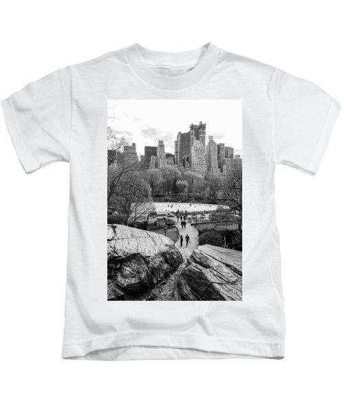 New York City Central Park Ice Skating Kids T-Shirt
