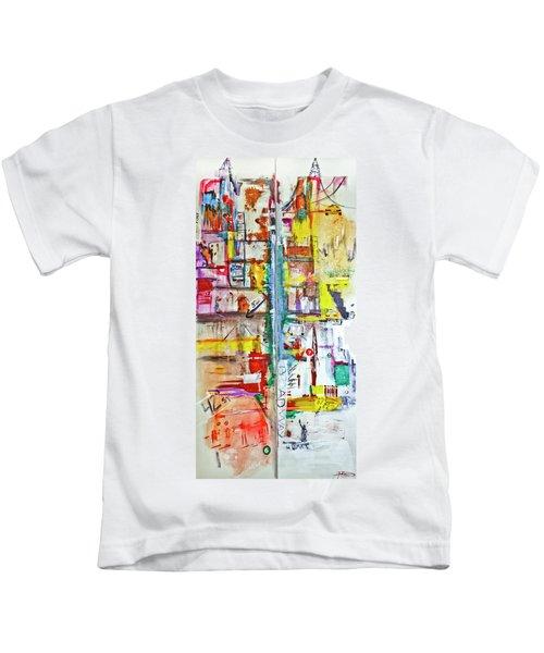 New York City Icons And Symbols Kids T-Shirt