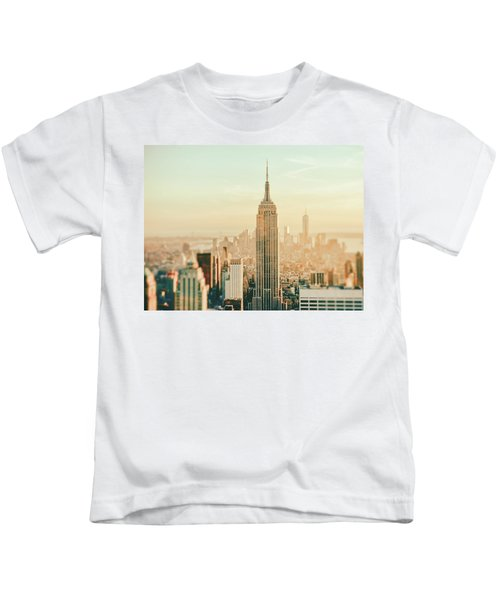 New York City - Skyline Dream Kids T-Shirt by Vivienne Gucwa
