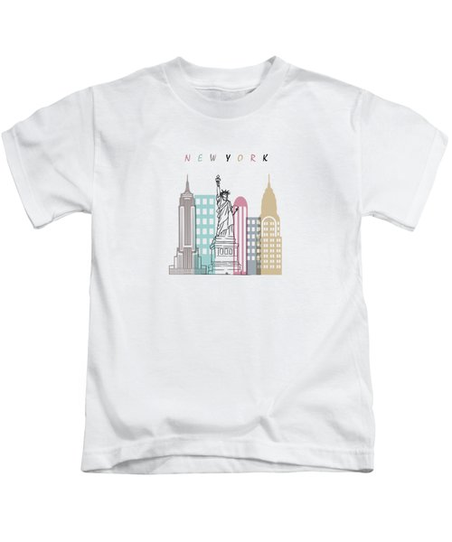 New York  Minimal  Kids T-Shirt