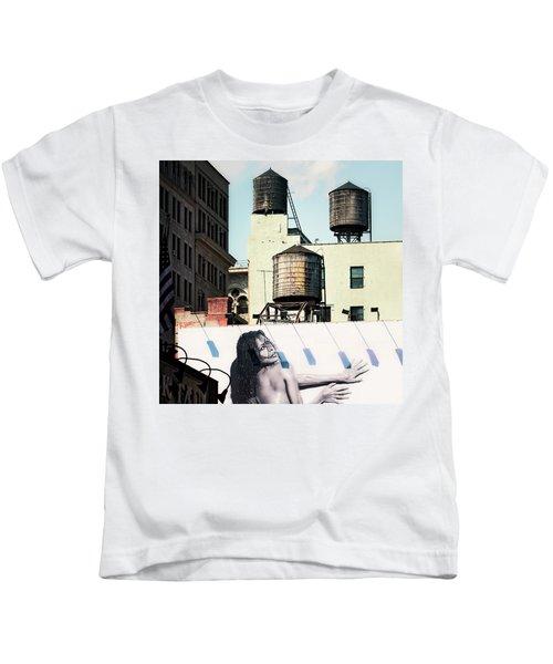 New York Water Towers 15 Kids T-Shirt