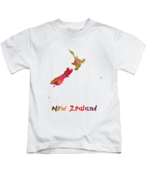 New Zealand In Watercolor Kids T-Shirt