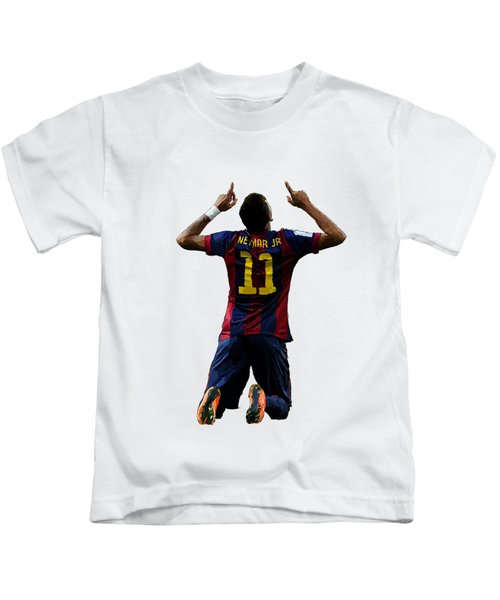 Neymar Kids T-Shirt by Armaan Sandhu