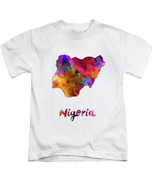 Nigeria In Watercolor Kids T-Shirt
