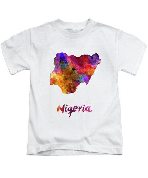 Nigeria In Watercolor Kids T-Shirt